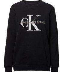 core monogram logo s sweat-shirt trui zwart calvin klein jeans
