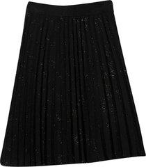 alberta ferretti black skirt