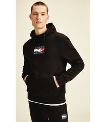 tommy hilfiger men's one planet recycled hoodie black - s
