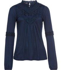 must have: maglia con pizzo (blu) - bodyflirt