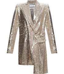 asymmetrical blazer with sequins