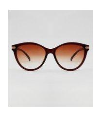 óculos de sol redondo feminino yessica marrom