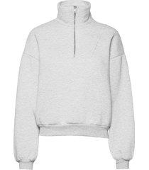elena sweater stickad tröja grå gina tricot