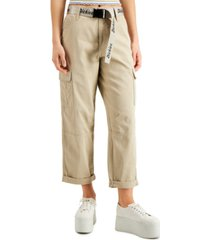 dickies juniors' belted cargo capri pants