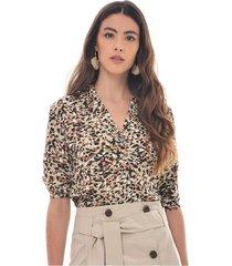 blusa para mujer en chalis multicolor color-multicolor-talla-s