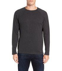 men's stone rose trim fit crewneck sweater, size xx-large - grey