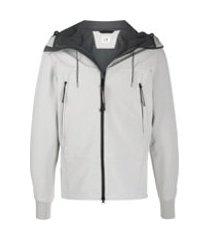 c.p. company jaqueta esportiva com capuz - cinza