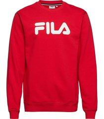 unisex classic pure crew sweat sweat-shirt tröja röd fila