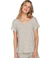 camiseta com estampa poá moonlight ivoire g