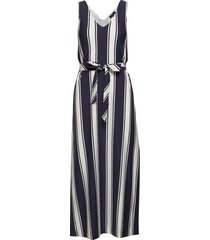 d2. striped maxi jersey dress maxi dress galajurk blauw gant