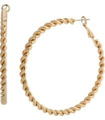 jessica simpson twist hoop earrings