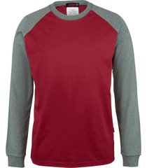 wolverine men's fr brower long sleeve tee dark red, size xl