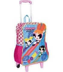mochila infantil sestini meninas super poderosas com rodinhas