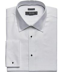black by vera wang white woven pattern tuxedo formal shirt