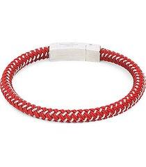 stainless steel & rubber bracelet