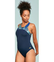 spiro zipped back one-piece swimsuit