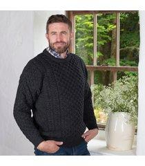 men's charcoal merino crew neck sweater xs