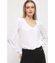 blusa ash blanco - calce holgado