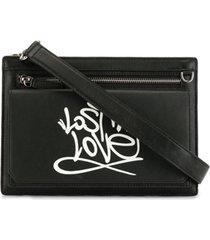 ports v bolsa tiracolo com estampa de grafite - preto