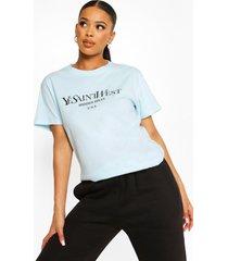 oversized ye saint west-t-shirt, blue