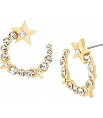 jessica simpson star stone hoop earrings
