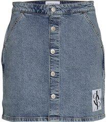 button down utility skirt kort kjol blå calvin klein jeans