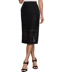 ornate floral lace pencil skirt