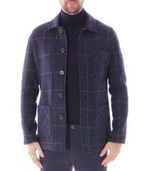 made in england work wear check blazer - navy notawrkwr-chk