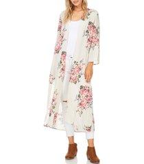 long floral kimono