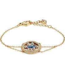 women's goldtone & swarovski crystal bracelet