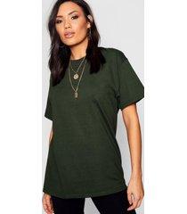 basic oversized boyfriend t-shirt, bottle green
