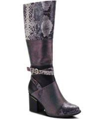 l'artiste women's exguisitie snake print tall boots women's shoes