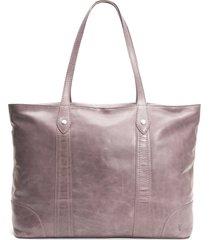 frye melissa traveler leather tote - purple