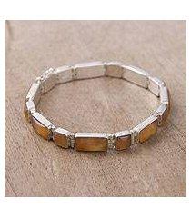 opal wristband bracelet, 'sweetheart' (peru)