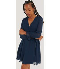 trendyol mesh contrast mini dress - navy