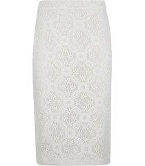 alexander mcqueen rear zip floral lace skirt