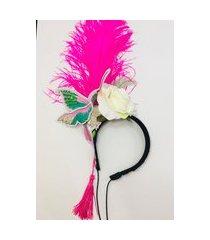 tiara apareceu a margarida carnaval beija flor rosa