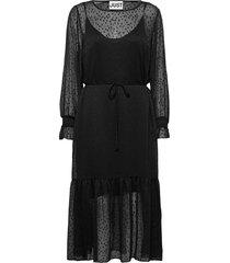 lula maxi dress knälång klänning svart just female
