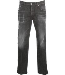 dsquared2 washed skater jeans w/mini tore up