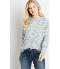 maurices womens multi geo print pullover hoodie