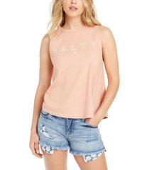 roxy juniors' cotton salty graphic tank top