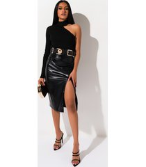 akira in the zone pleather pencil skirt