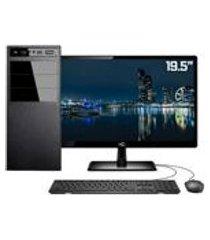 computador completo intel 7a geracao 4gb hd 1tb (placa de video intel uhd 610) monitor 19.5 led hdmi skill pro