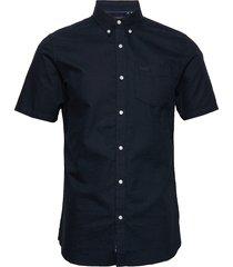 classic university oxford s/s shirt overhemd met korte mouwen blauw superdry