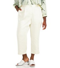 alfani plus size cropped satin-trim pants, created for macy's