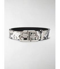 balenciaga snake-print belt
