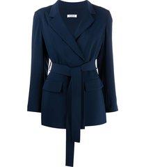 p.a.r.o.s.h. lightweight tie waist jacket - blue