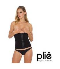 corset plié de compressão com colchetes redutor preto