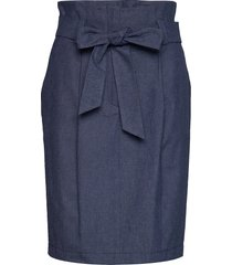 radila knälång kjol blå hugo