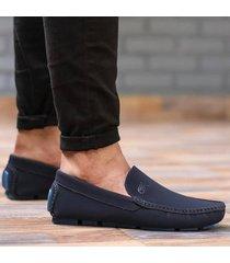 zapato mocasín  - azul